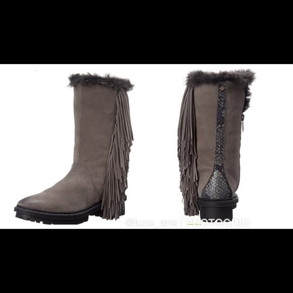 eabe09d3a09155 Sam Edelman Tilden Faux Fur- Fringe Boots. M 5a6943545521be5edbf506cf